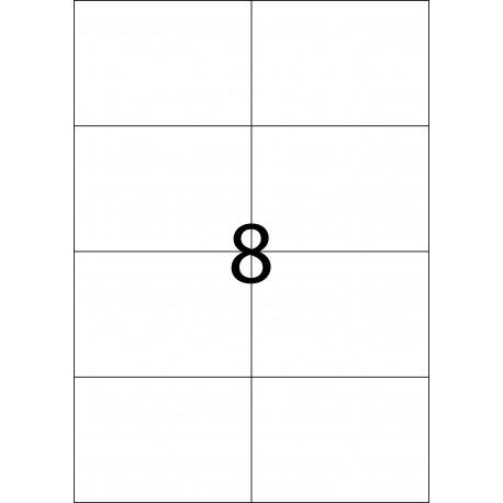 DIN A4 con 8 etiquetas por hoja