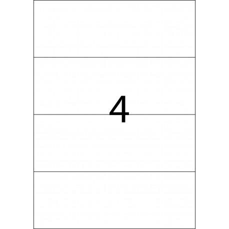 DIN A4 con 4 etiquetas por hoja